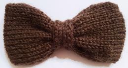 Noeud papillon tricoté main en pure laine