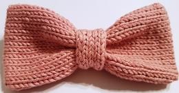 Noeud papillon tricoté main en coton d'égypte